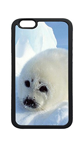 iPhone X Case, Baby Harp Seal Flexible Soft TPU Rubber Bumper Case Cover for iPhone (Seal Soft Harp)