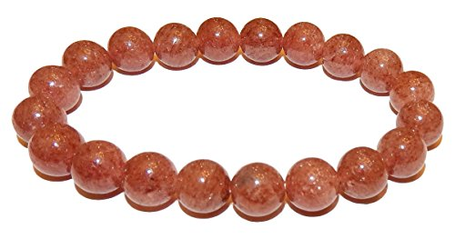 10mm Strawberry Lepidocrocite Quartz Bracelet 02 Life Force Healing Crystal (Gift Box) (6.75 Inches)