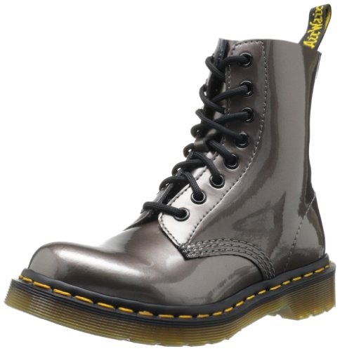 Dr. Martens PASCAL Spectra Patent PEWTER - Botas militares, color: Silber (pewter) Plata - Silber (pewter)