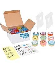 Lip Balm Container Potten - Voor Cosmetica - 48-Pack - 6 kleuren - DIY - Transparant - 5 Gram (5 ml/1,8 oz) - Inclusief 48 schrijfbare & 48 bedrukte lippenbalsem Stickers - Schroefdop Deksels - Leeg