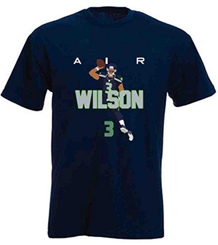 Shedd Shirts Navy Seattle Wilson AIR PIC T-Shirt Adult