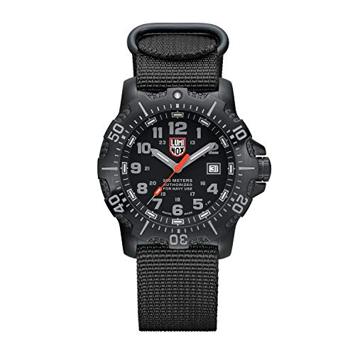 Luminox Divers Mens Watch in Black A.N.U. (Authorized for Navy Use) (XS.4221/4200 Series) - 200m Waterproof Stainless Steel Case Antireflective Sapphire Crystal ()