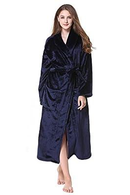 non Simplicity Men Women Luxurious Plush Kimono Bathrobe Thicken DH5404