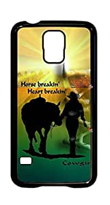 Cowgirl With Horse Case - Samsung Galaxy S5 VA.1 Horse Breakin Case Cover - Black Case - AArt