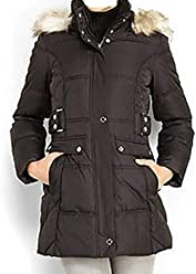 77d7c58f980 Women s Outerwear Winter Hooded Fur Parka Puffer Black Coat Jacket Plus 3X