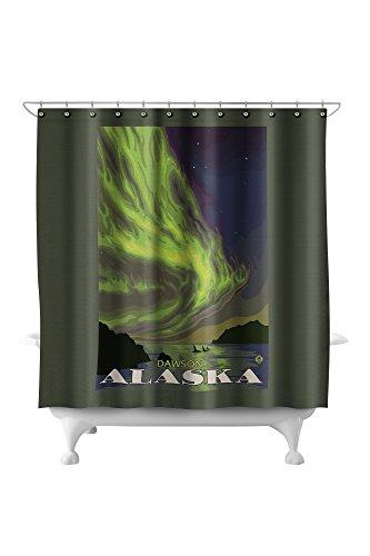 Northern Lights and Orcas - Dawson, Alaska (71x74 Polyester Shower Curtain)