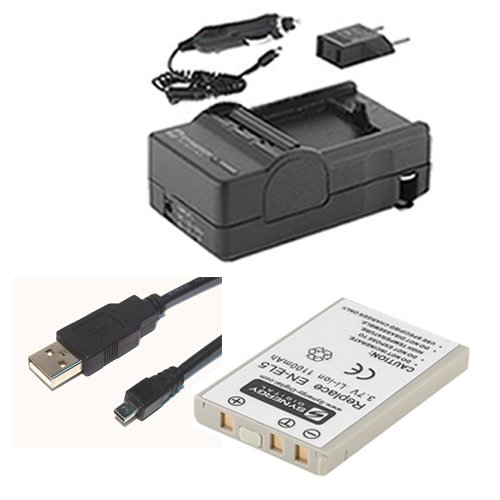 Nikon Coolpix P530 Digital Camera Accessory Kit includes: SDENEL5 Battery, SDM-136 Charger, USB8PIN USB Cable
