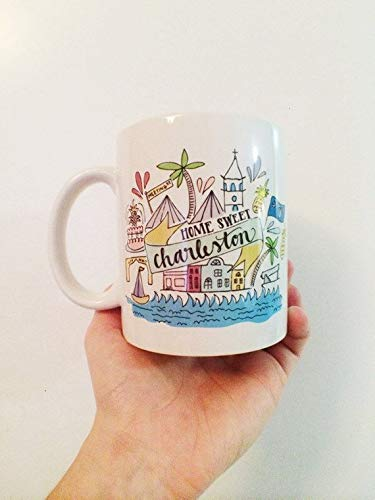 Home Sweet Charleston South Carolina Chucktown Holy City Illustration Summer-11OZ Coffee Mug