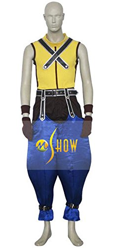 Mtxc Men's Kingdom Hearts Cosplay Costume Riku Full Set Size X-large Yellow