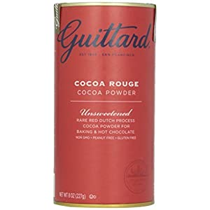 E Guittard Cocoa Powder, Unsweetened Rouge Red Dutch Process Cocoa, Two (2) 8oz Cans