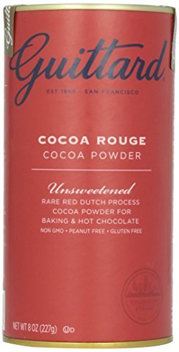 E Guittard Cocoa Powder, Unsweetened Rouge Red Dutch Process Cocoa, Two (2) 8oz Cans (Cocoa Red)
