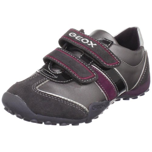 Geox Jr Snake Girl 45 Sneaker (Toddler/Little Kid),Dark Grey,35 EU (3.5 M US Big Kid) -