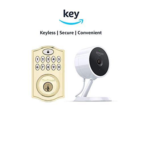 Kwikset SmartCode 914 Keypad Smart Lock + Amazon Cloud Cam | Key Smart Lock Kit (Polished ()