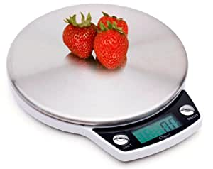 Ozeri ZK011 Precision Pro Stainless-Steel Digital Kitchen Scale with Oversized Weighing Platform