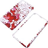 Aimo IPHONE4GPCIM129H Durable Hard Snap-On Case for iPhone 4 - 1 Pack - Retail Packaging - Red Hearts