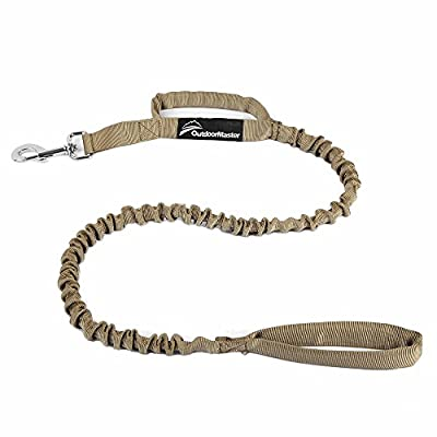 OutdoorMaster Bungee Dog Leash, Improved Dog Safety & Comfort