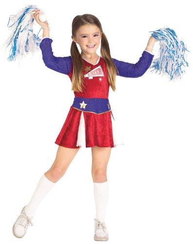 [Rubies Cheerleader Child Costume, Small] (Cheerleading Costumes Halloween)