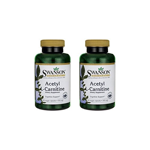 Swanson Acetyl L-Carnitine 500 mg 100 Veg Caps 2 Pack