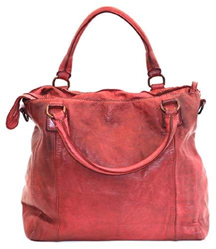 BZNA Bag Eva cognac Italien designer dam läderväska handväska axelväska väska läder väska ny