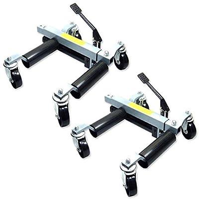 Dolly Hydraulic Vehicle Automotive Moving Wheel Jacks 1500 lb Capacity 2Pcs
