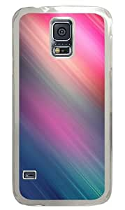 Samsung Galaxy S5 Case And Cover - With Colors Custom Design Samsung Galaxy S5 Case Cover - Polycarbonate - Transparent