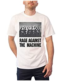 Rage Against the Machine T Shirt Nuns and Guns Band Logo New Official Mens White