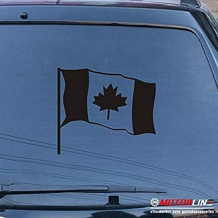 "Canadian Flag 8/"" Vinyl Sticker Decal Choose Color bumper car window Canada"