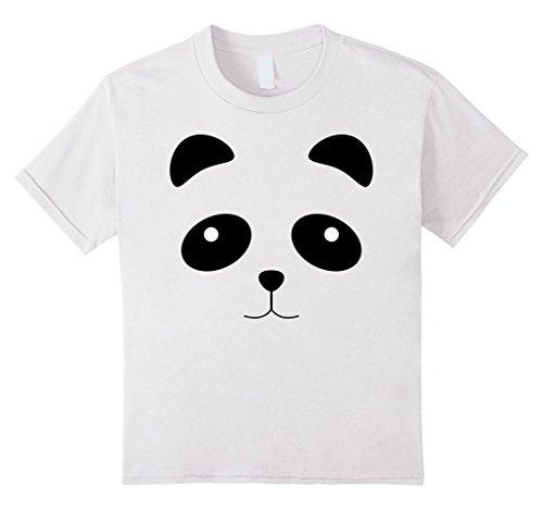 Panda Costume Face (Kids Funny Panda Face Halloween Costume Shirt - Cool Kids Gift 4 White)