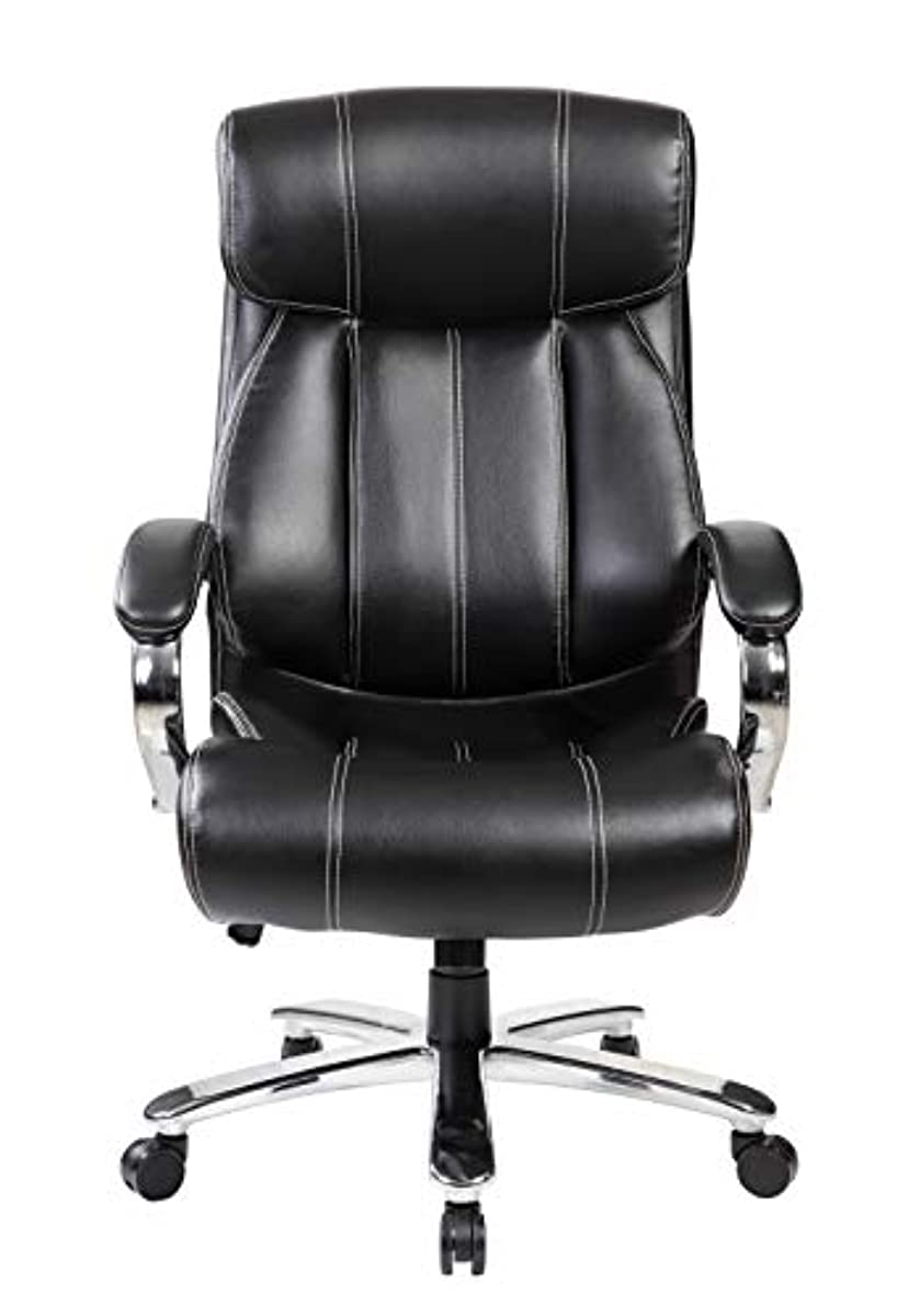 Wondrous Details About 400 Lb Big And Tall High Back Executive Leather Office Computer Desk Chair Black Theyellowbook Wood Chair Design Ideas Theyellowbookinfo