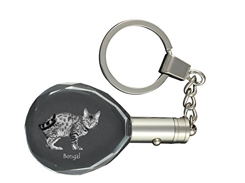 Bengal, Cat Crystal Keyring, Keychain,, Exceptional Gift