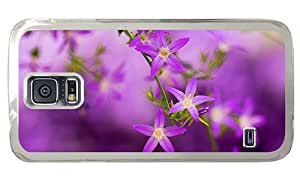 Hipster Samsung Galaxy S5 Case Cheap price purple blooming PC Transparent for Samsung S5