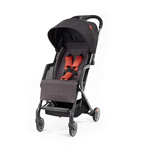 Diono Traverze Essentials Lightweight Stroller, for Children Up to 45 Pounds, Charcoal Copper Hive