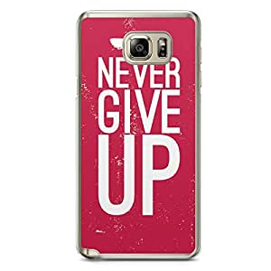 Inspirational Samsung Note 5 Transparent Edge Case - Never Give up