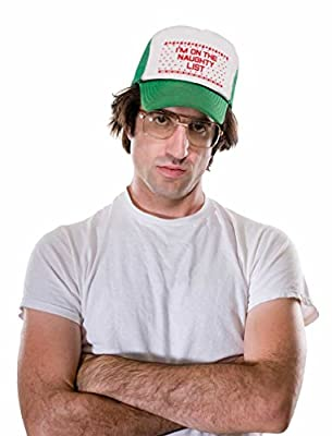 I'm On The Naughty List Funny Holiday Ugly Christmas Party Trucker Hat Mesh Cap