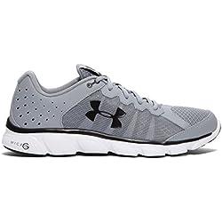Under Armour Men's Micro G Assert 6 Running Shoes, Steel/White, 10.5 D(M) US