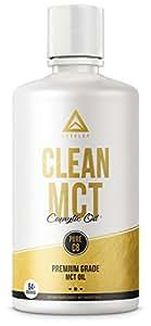 CLEAN MCT - 100% Pure C8 Caprylic Acid MCT Oil - Instantly Converts into Ketones - Most Ketogenic Medium Chain Triglycerides - Keto Paleo Vegan Halal ✮ NON GMO ✮ 32oz