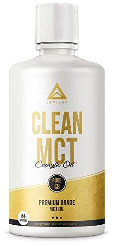 Clean MCT Oil: 100% Pure C8 Caprylic Acid Triglycerides | Best Ketogenic Diet Supplement | The Perfect Keto Coffee Fat for Ketones | Brain and Body Octane | by LevelUp® (32oz) Review