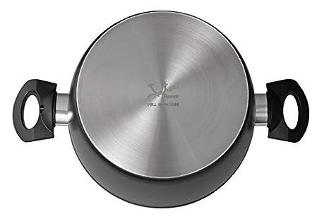 Jata Hogar BC3 Batería de Cocina, Aluminio Forjado, Negro, 24 cm ...