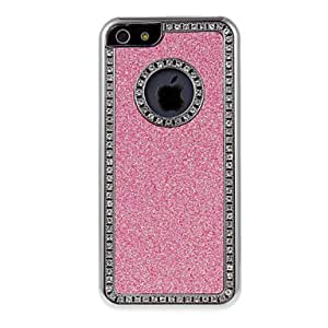 Shimmering Protective Hard Case with Diamond for iPhone 5C (Assorted Colors) --- COLOR:Silver