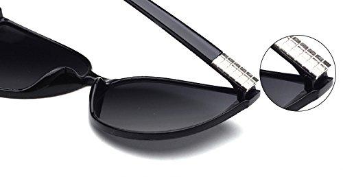 CHTIT de Diamant soleil Style de Homme Miroir yeux Or Femme Œil chat de TSGL325 chat Lunettes de qEz60w