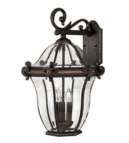 Hinkley 2445CB, San Clemente Cast Aluminum Outdoor Wall Sconce Lighting, 120 Total Watts, Bronze