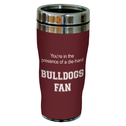 Tree-Free Greetings sg24493 Bulldogs College Football Fan Sip 'N Go Stainless Steel Lined Travel Tumbler, 16-Ounce