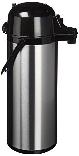 Quid 7520006 Xylon - Isotermo Cafe con Surtidor Doble Pared Vidrio/ Acero Inoxidable, 1 9 Litros, color Negro
