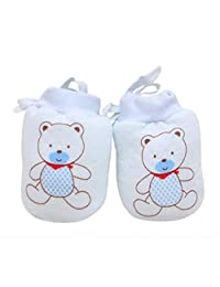 Tenworld Baby Soft Stay On Scratch Mittens Stop Scratches and Germs Warm Gloves