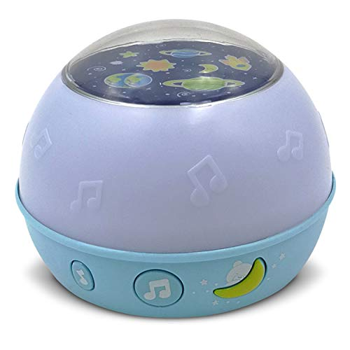 First Dreams Goodnight Starry Sky - Adorable Star Night Light Projector and Lullaby Sound Machine - 10 Melodies, 3 Different Colored Lights - for Newborn Babies and Older