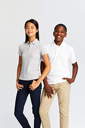 French Toast Boys' Short Sleeve Moisture Wicking Stretch Sport Polo Shirt