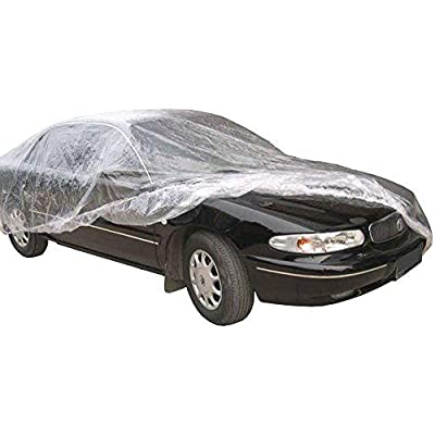 WEST LAKE Car Essential Universal Disposable Clear Plastic Car Cover Shield Rain Snow Hail Dust Garage Great for SUV, Sedan, Sport Cars, Antique Cars, etc.: Automotive