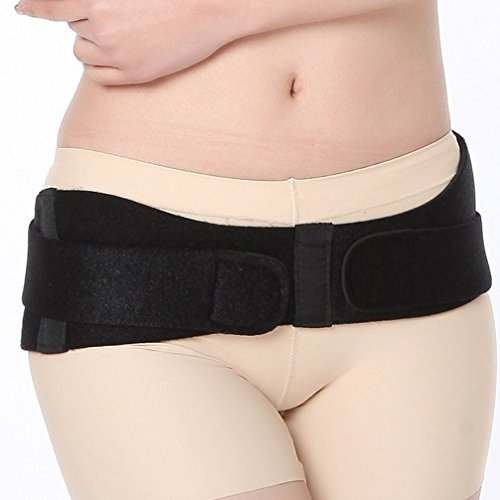 Luwint Contoured SI Joint Hip Belt - Sacroiliac Support Brace for Women Youth Low Back Support Pelvis Sciatica