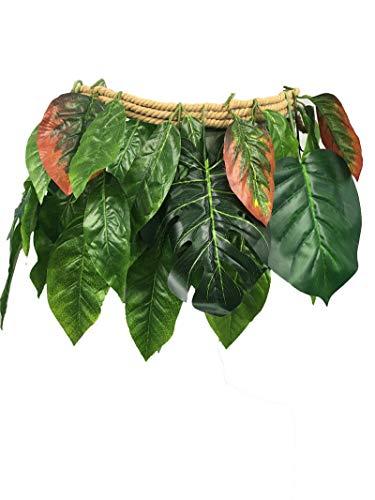 Skirt Halloween Hula (FidgetGear Moana Maui Leaf Skirt Hula Skirt Man Costume Cosplay Accessory Halloween)