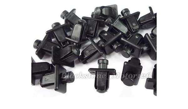 10x Clips For Nissan Cowl Grille Grill Push Retainer Trim Clips Black Plastic